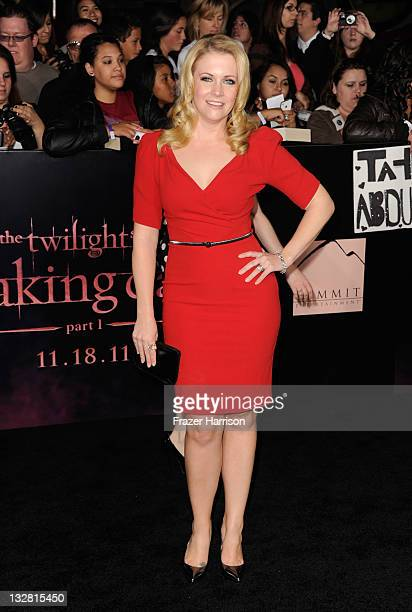 Actress Melissa Joan Hart arrives at Summit Entertainment's The Twilight Saga Breaking Dawn Part 1 premiere at Nokia Theatre LA Live on November 14...