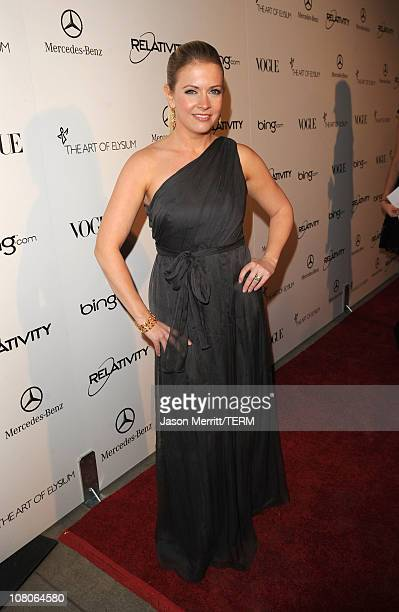 Actress Melissa Joan Hart arrives at the 2011 Art Of Elysium Heaven Gala held at the California Science Center on January 15 2011 in Los Angeles...