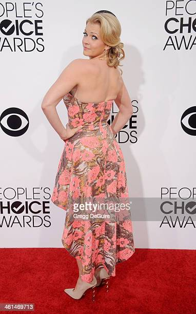 Actress Melissa Joan Hart arrives at the 40th Annual People's Choice Awards at Nokia Theatre LA Live on January 8 2014 in Los Angeles California