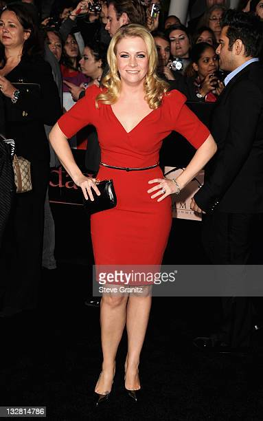 Actress Melissa Joan Hart arrives at the Los Angeles premeire of The Twilight Saga Breaking Dawn Part 1 at Nokia Theatre LA Live on November 14 2011...