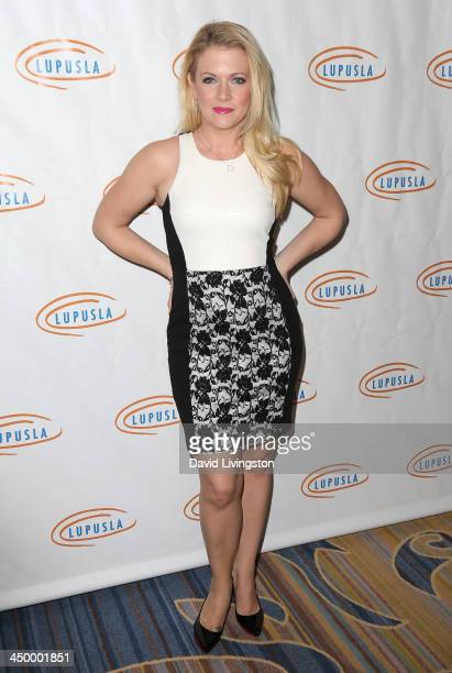 Actress Melissa Joan Hart attends the 11th Annual Lupus LA Hollywood Bag Ladies Luncheon at the Beverly Wilshire Four Seasons Hotel on November 15...