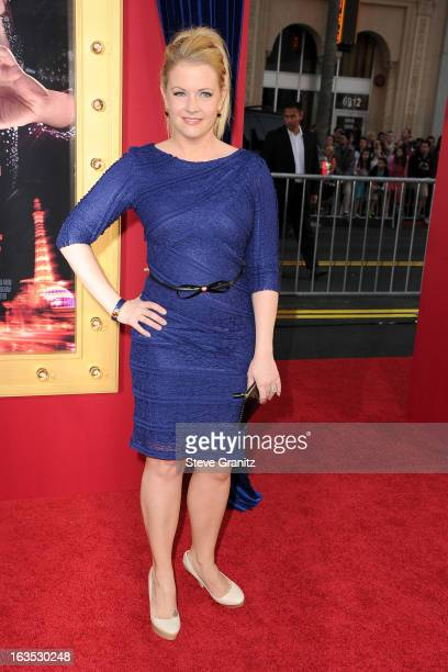 Actress Melissa Joan Hart attends 'The Incredible Burt Wonderstone' Los Angeles Premiere at TCL Chinese Theatre on March 11 2013 in Hollywood...