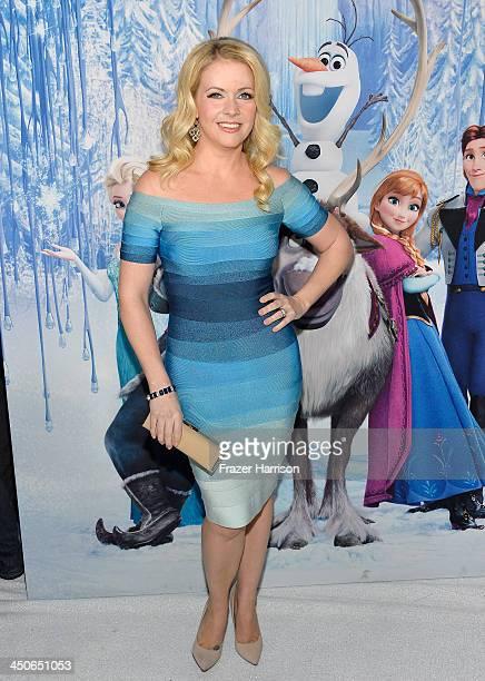 Actress Melissa Joan Hart attends the premiere of Walt Disney Animation Studios' Frozenat the El Capitan Theatre on November 19 2013 in Hollywood...