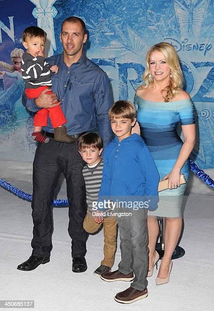 Actress Melissa Joan Hart husband Mark Wilkerson and children attend the premiere of Walt Disney Animation Studios' Frozen at the El Capitan Theatre...