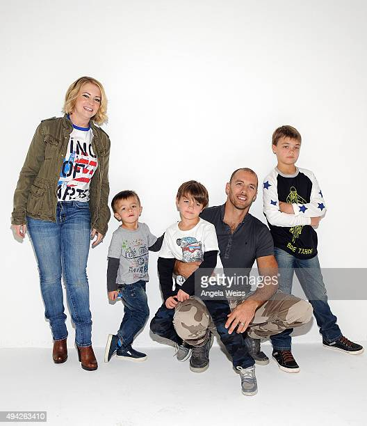 Actress Melissa Joan Hart with husband Mark Wilkerson and their children Braydon Hart Wilkerson Mason Walter Wilkerson Tucker McFadden Wilkerson...