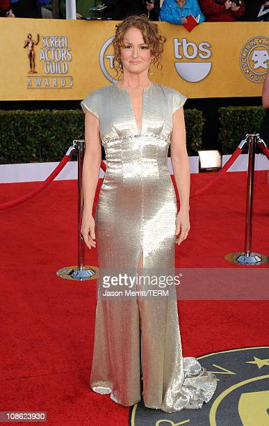 Actress Melissa Leo arrives at the 17th Annual Screen Actors Guild Awards held at The Shrine Auditorium on January 30 2011 in Los Angeles California