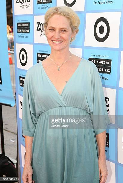 """Actress Melissa Leo arrives at the 2009 Los Angeles Film Festival's Opening Night Premiere of """"Paper Man"""" held at the Mann Village Theatre on June..."""