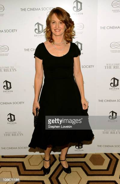 Actress Melissa Leo attends The Cinema Society Everlon Diamond Knot Collection's screening of Welcome To The Rileys on October 18 2010 at the Tribeca...