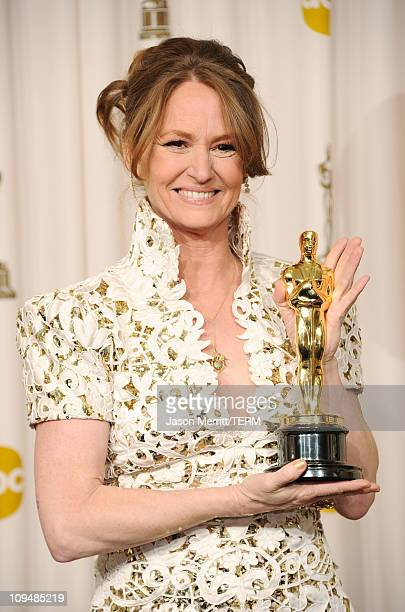 Actress Melissa Leo winner of the award for Best Supporting Actress for 'The Fighter' poses in the press room during the 83rd Annual Academy Awards...