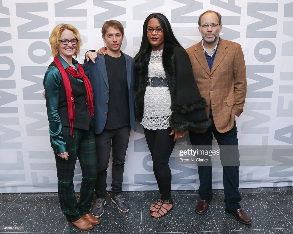 Actress Melissa Leo, writer/director Sean Baker, actress Mya Taylor and filmmaker Ira Sachs attend the 'Tangerine' New York special screening held at the MoMA Titus One on December 2, 2015 in New York City.