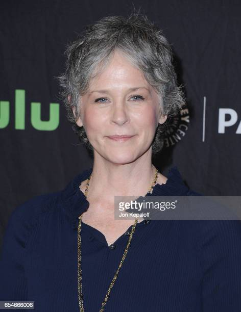 Actress Melissa McBride arrives at The Paley Center For Media's 34th Annual PaleyFest Los Angeles Opening Night Presentation 'The Walking Dead' at...