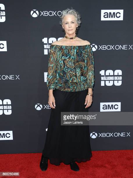 Actress Melissa McBride attends the 100th episode celebration off 'The Walking Dead' at The Greek Theatre on October 22 2017 in Los Angeles California