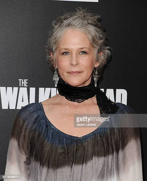 Actress Melissa McBride attends the live 90minute special edition of 'Talking Dead' at Hollywood Forever on October 23 2016 in Hollywood California