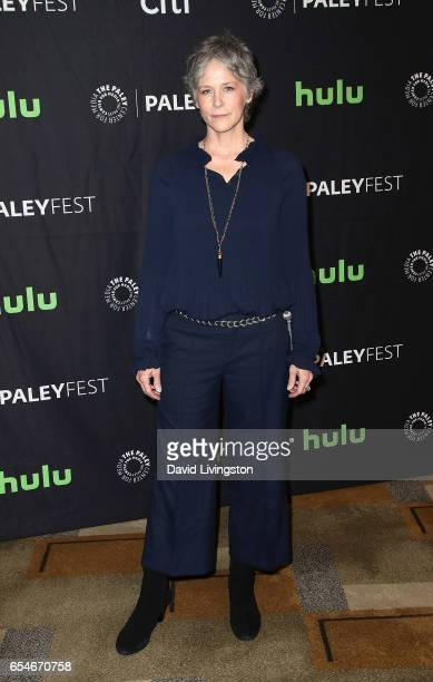 Actress Melissa McBride attends The Paley Center for Media's 34th Annual PaleyFest Los Angeles opening night presentation of 'The Walking Dead' at...