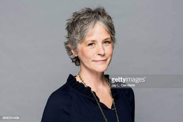 Actress Melissa McBride from AMC's 'The Walking Dead is photographed during Paley Fest for Los Angeles Times on March 17 2017 in Los Angeles...