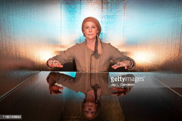 Actress Melissa McBride of 'The Walking Dead' is photographed for Los Angeles Times at ComicCon International on July 19 2019 in San Diego California...