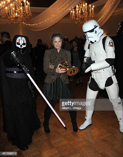 Actress Melissa McBride with members of Dark Side Riders attend the After Party for the 40th Annual Saturn Awards held at on June 26 2014 in Burbank...