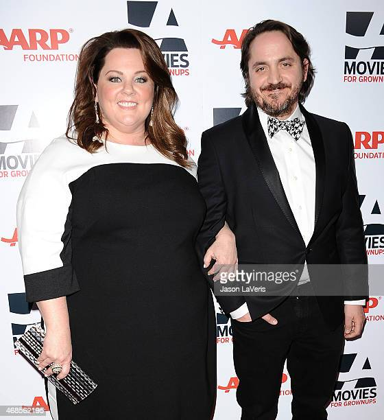 Actress Melissa McCarthy and actor Ben Falcone attend the 13th annual AARP's Movies For Grownups Awards gala at Regent Beverly Wilshire Hotel on...