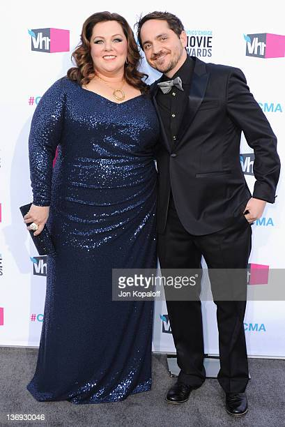 Actress Melissa McCarthy and Ben Falcone arrive at the17th Annual Critics Choice Movie Awards at The Hollywood Palladium on January 12 2012 in Los...