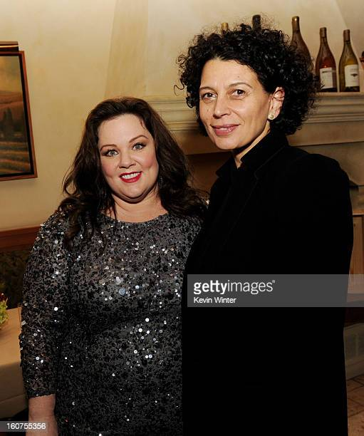 """Actress Melissa McCarthy and Donna Langely, Co-Chairman, Universal Pictures pose at the after party for the premiere of Universal Pictures' """"Identity..."""