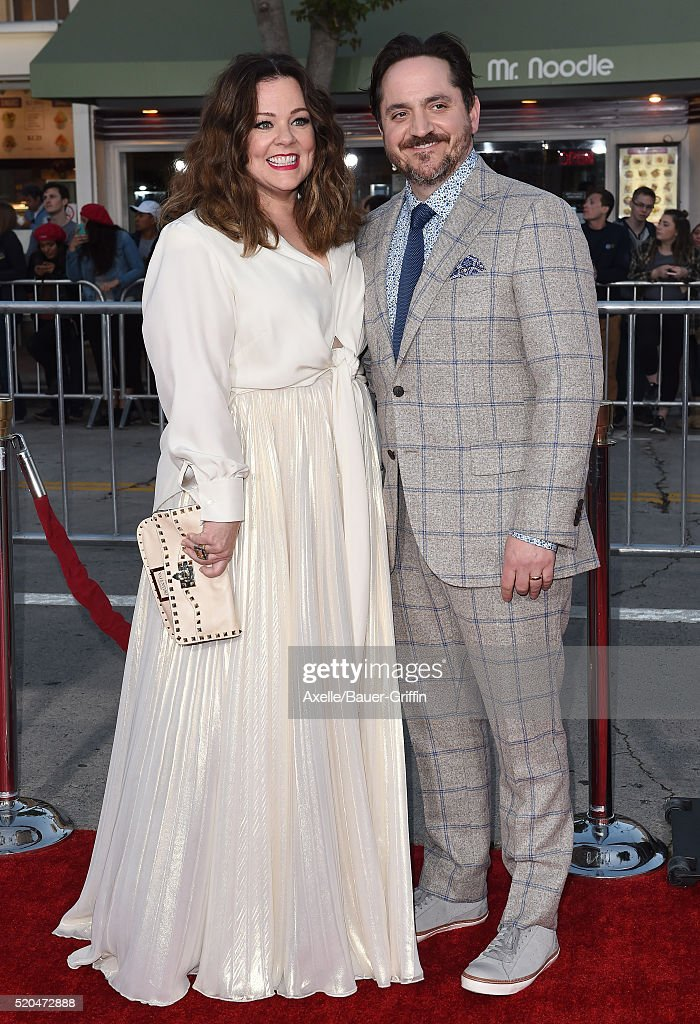 Actress Melissa McCarthy and husband Ben Falcone arrive at the premiere of USA Pictures' 'The Boss' at Regency Village Theatre on March 28, 2016 in Westwood, California
