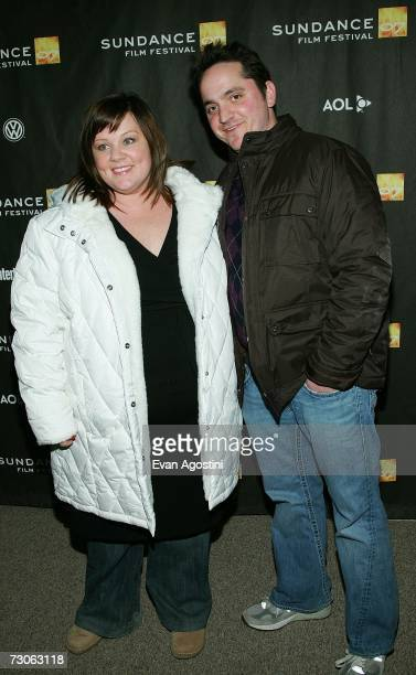 Actress Melissa McCarthy and husband Ben Falcone arrive for the premiere of 'The Nines' at the Eccles Theatre during the 2007 Sundance Film Festival...