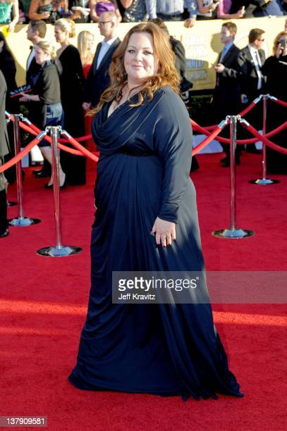 Actress Melissa McCarthy arrives at the 18th Annual Screen Actors Guild Awards at The Shrine Auditorium on January 29 2012 in Los Angeles California