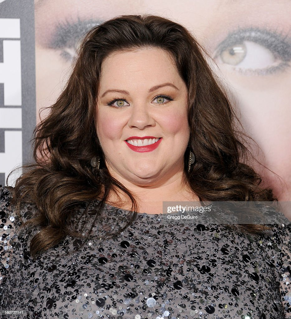 Actress Melissa McCarthy arrives at the 'Identity Thief' Los Angeles premiere at Mann Village Theatre on February 4, 2013 in Westwood, California.