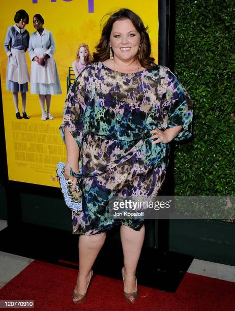 Actress Melissa McCarthy arrives at the Los Angeles Premiere The Help at AMPAS Samuel Goldwyn Theater on August 9 2011 in Beverly Hills California