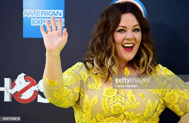 Actress Melissa McCarthy arrives at the Premiere of Sony Pictures' Ghostbusters at TCL Chinese Theatre on July 9 2016 in Hollywood California