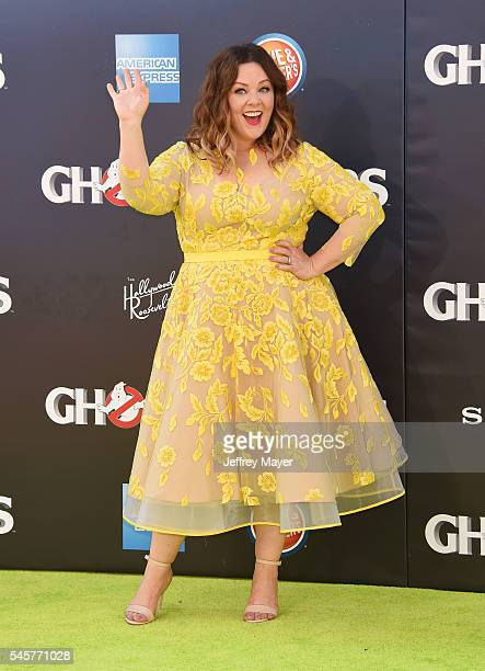 Actress Melissa McCarthy arrives at the Premiere of Sony Pictures' 'Ghostbusters' at TCL Chinese Theatre on July 9, 2016 in Hollywood, California.