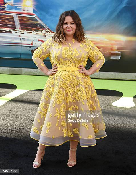 """Actress Melissa McCarthy arrives at the premiere of Sony Pictures' """"Ghostbusters"""" at TCL Chinese Theatre on July 9, 2016 in Hollywood, California."""