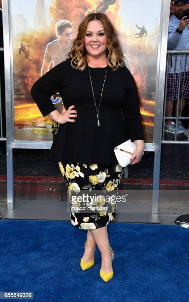 Actress Melissa McCarthy arrives at the Premiere Of Warner Bros Pictures' CHiPS at TCL Chinese Theatre on March 20 2017 in Hollywood California