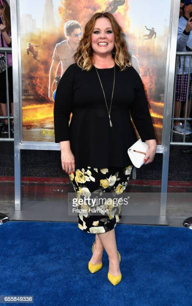Actress Melissa McCarthy arrives at the Premiere Of Warner Bros Pictures' 'CHiPS' at TCL Chinese Theatre on March 20 2017 in Hollywood California