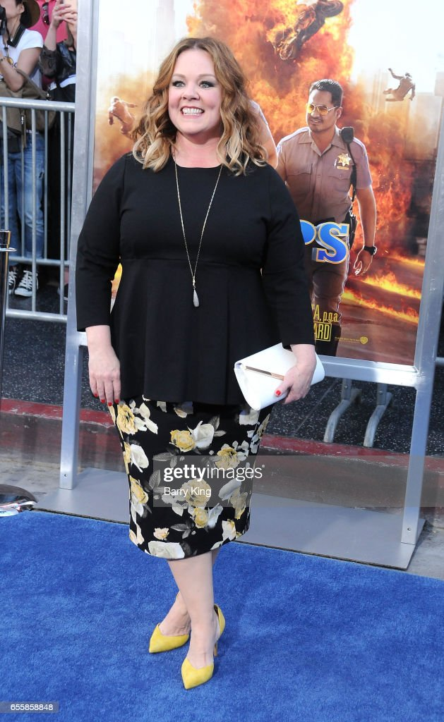 Actress Melissa McCarthy arrives at the premiere of Warner Bros. Pictures' 'CHiPS' at TCL Chinese Theatre on March 20, 2017 in Hollywood, California.