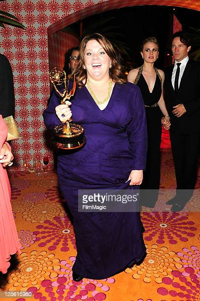Actress Melissa McCarthy attends HBO's Official Emmy After Party at The Plaza at the Pacific Design Center on September 18 2011 in Los Angeles...