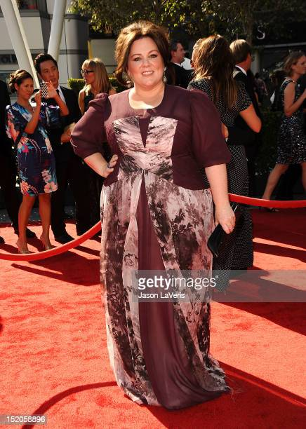 Actress Melissa McCarthy attends the 2012 Primetime Creative Arts Emmy Awards at Nokia Theatre L.A. Live on September 15, 2012 in Los Angeles,...