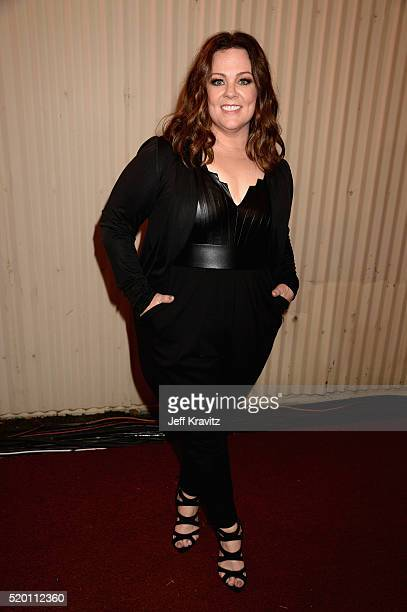 Actress Melissa McCarthy attends the 2016 MTV Movie Awards at Warner Bros Studios on April 9 2016 in Burbank California MTV Movie Awards airs April...