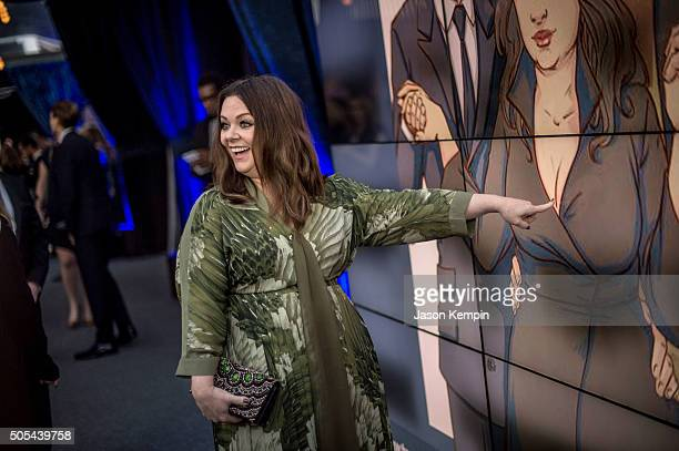 Actress Melissa McCarthy attends the 21st Annual Critics' Choice Awards at Barker Hangar on January 17, 2016 in Santa Monica, California.
