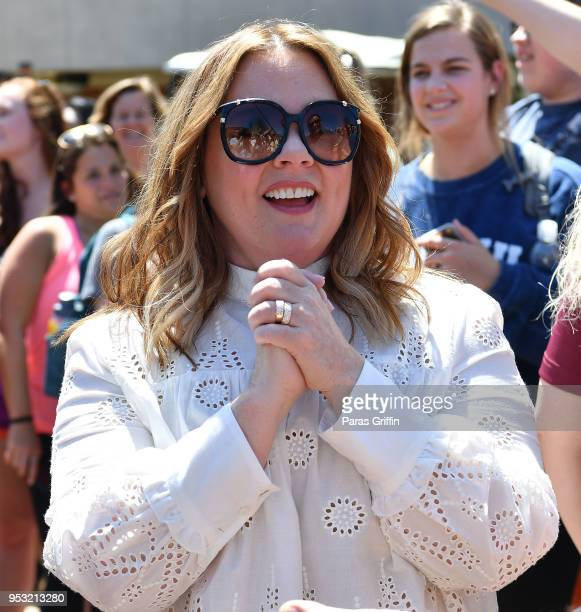 Actress Melissa McCarthy attends the Life Of The Party Auburn Tour at Auburn University on April 30 2018 in Auburn Alabama