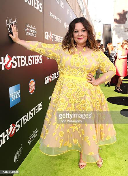 """Actress Melissa McCarthy attends the Premiere of Sony Pictures' """"Ghostbusters"""" at TCL Chinese Theatre on July 9, 2016 in Hollywood, California."""