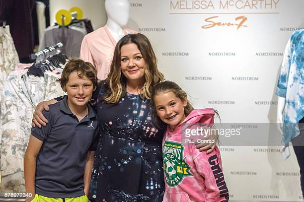9969695bee5 Actress Melissa McCarthy center poses with fans during a promotion for her  fashion line Melissa McCarthy. Melissa McCarthy Visits Nordstrom Downtown  Seattle ...