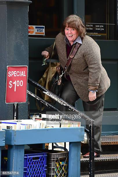 Actress Melissa McCarthy is seen on the set of Can You Ever Forgive Me on January 23 2017 in New York City