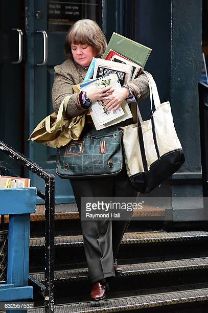 Actress Melissa McCarthy is seen on the set of 'Can You Ever Forgive Me' on January 23 2017 in New York City