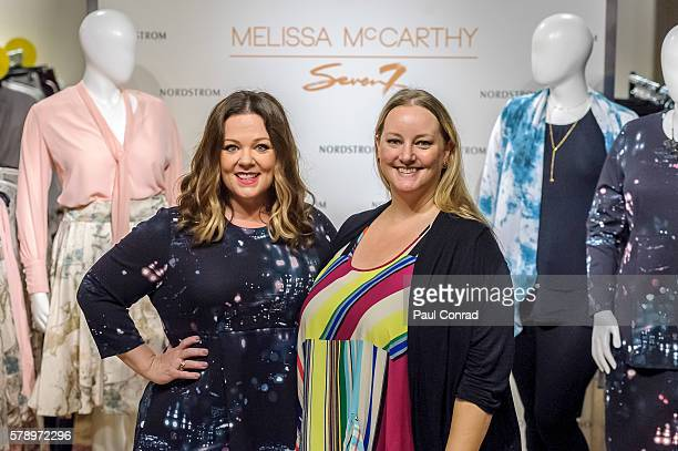 a31b034b082 Actress Melissa McCarthy left poses with a fan during a promotion for her  fashion line Melissa. Melissa McCarthy Visits Nordstrom Downtown Seattle ...