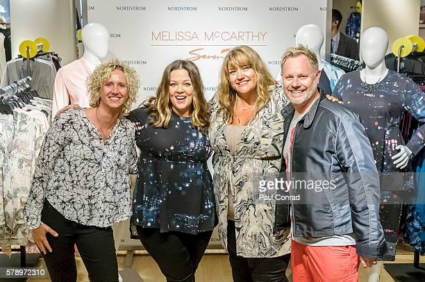 330a2c3ce19 Actress Melissa McCarthy second from left poses with fans during a  promotion for her fashion line. Melissa McCarthy Visits Nordstrom Downtown  Seattle ...