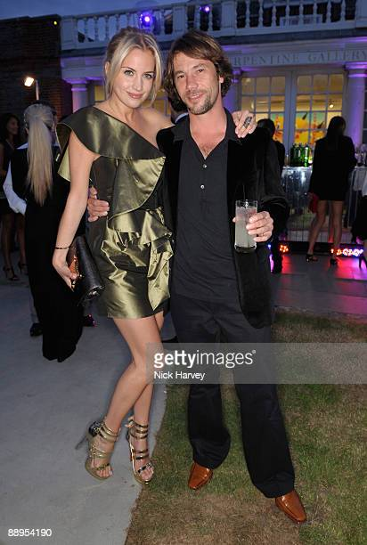Actress Melissa Montgomery and musician Jay Kay attends the annual Summer Party at the Serpentine Gallery on July 9 2009 in London England