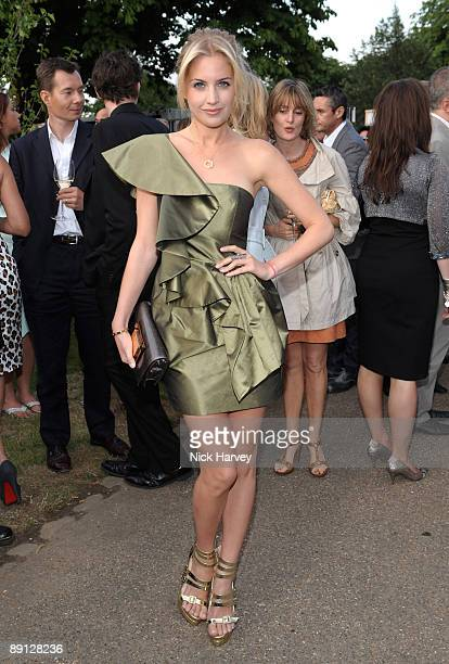 Actress Melissa Montgomery attends the annual Summer Party at the Serpentine Gallery on July 9 2009 in London England
