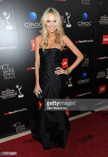 Actress Melissa Ordway attends 40th Annual Daytime Entertaimment Emmy Awards Arrivals at The Beverly Hilton Hotel on June 16 2013 in Beverly Hills...