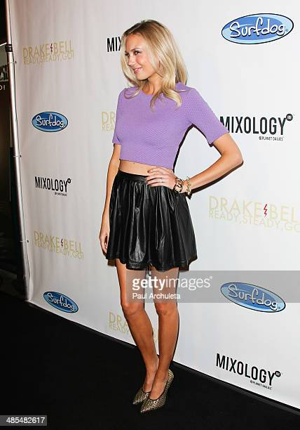 Actress Melissa Ordway attends Drake Bell's Album Release Party for 'Ready Steady Go' at Mixology101 Planet Dailies on April 17 2014 in Los Angeles...